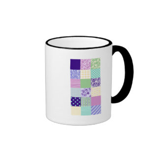 Girly and Fresh Pattern Squares Vector Quilt Mug