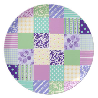 Girly and Fresh Pattern Squares Vector Quilt Plates