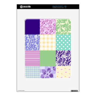 Girly and Fresh Pattern Squares Vector Quilt Decals For The iPad
