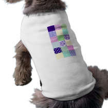Girly and Fresh Pattern Squares Vector Quilt Tee