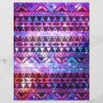 Girly Andes Aztec Pattern Pink Teal Nebula Galaxy