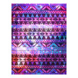 "Girly Andes Aztec Pattern Pink Teal Nebula Galaxy 8.5"" X 11"" Flyer"