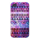 Girly Andes Aztec Pattern Pink Teal Nebula Galaxy iPhone 4/4S Cover