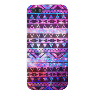 Girly Andes Aztec Pattern Pink Teal Nebula Galaxy iPhone 5 Case