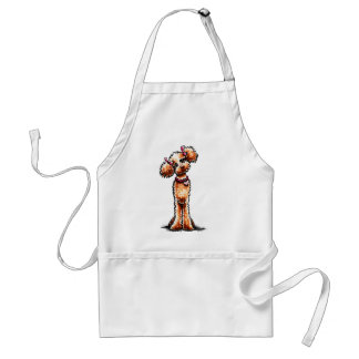 Girly Apricot Poodle Off-Leash Art™ Adult Apron