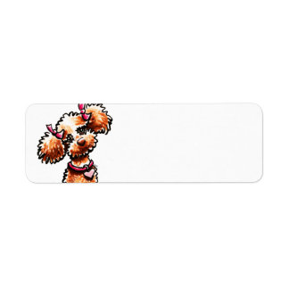 Girly Apricot Poodle Off-Leash Art™ Label