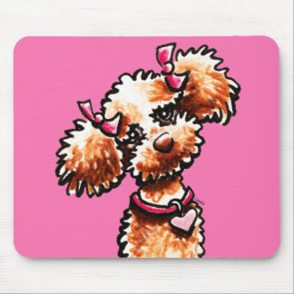 Girly Apricot Poodle Off-Leash Art™ Mouse Pad
