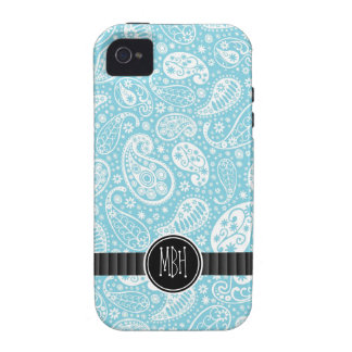 Girly Baby Blue Country  Paisley Personalized Vibe iPhone 4 Covers