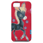 Girly Baby Donkey With Flowers iPhone 5 Case