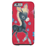 Girly Baby Donkey With Flowers Tough iPhone 6 Case