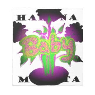 Girly  Baby Hakuna Matata.png Memo Pads