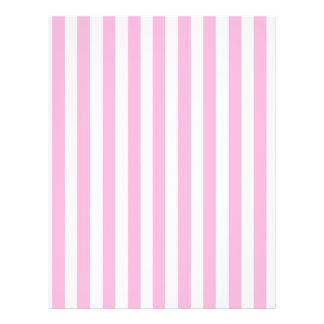 """Girly Baby Pink Solid Stripes Pattern 8.5"""" X 11"""" Flyer"""
