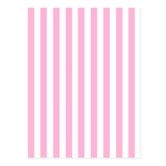 Girly Baby Pink Solid Stripes Pattern Postcard