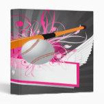 girly baseball designs notebook binder