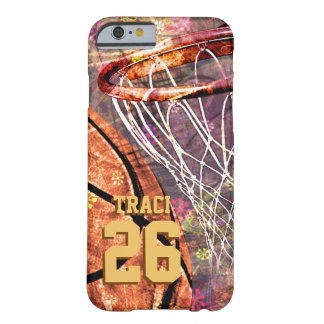 Girly Basketball Barely There iPhone 6 Case