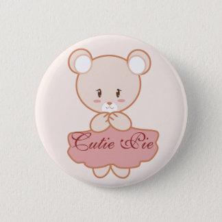 Girly Bear Button