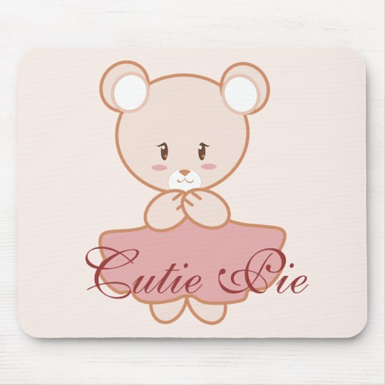 Girly Bear Mouse Pad