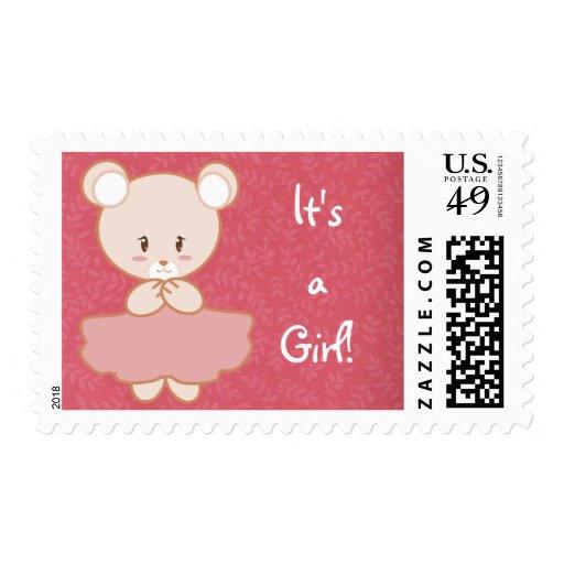 Girly Bear Postage