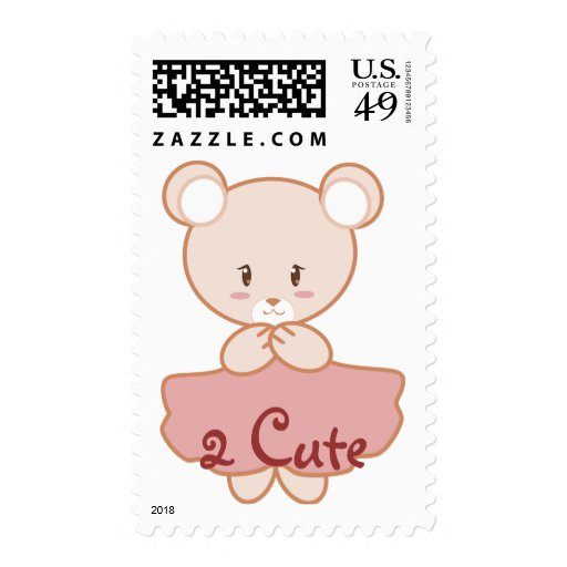 Girly Bear Postage Stamps