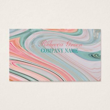 Professional Business girly beauty hair nails SPA fashion coral mint Business Card
