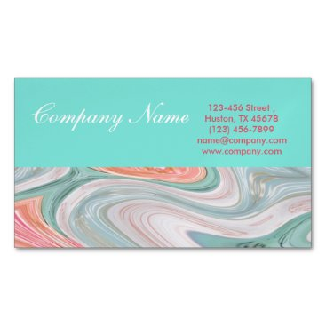 Professional Business girly beauty hair nails SPA fashion coral mint Business Card Magnet