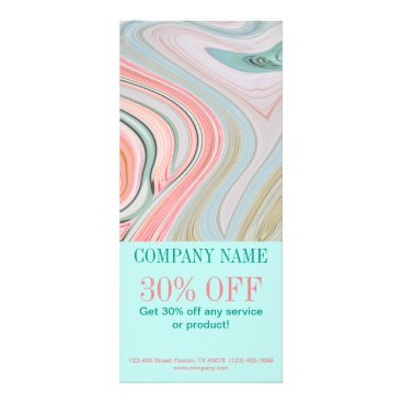 Professional Business girly beauty hair nails SPA fashion coral mint Rack Card