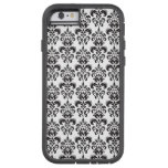 Girly Black and White Vintage Damask Pattern 2 Tough Xtreme iPhone 6 Case