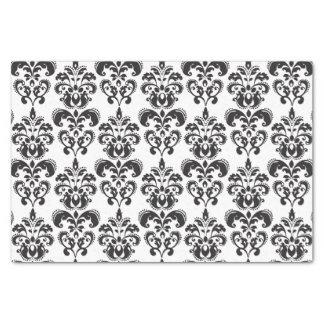 Girly Black and White Vintage Damask Pattern 2 Tissue Paper