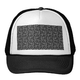Girly Black White Swirls Pattern Hat