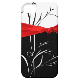 Girly Black, White Swirls Red Ribbon iPhone5 iPhone 5 Covers