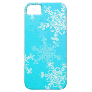 Girly blue and white Christmas snowflakes iPhone SE/5/5s Case