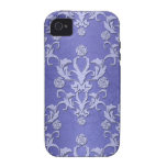 Girly Blue Damask iPhone Case Case-Mate iPhone 4 Case