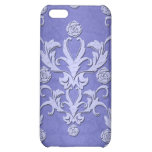 Girly Blue Damask iPhone Case Case For iPhone 5C