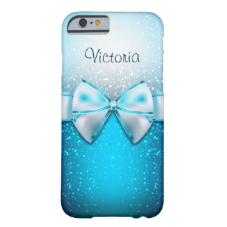 Girly Blue Glitter Holiday iPhone 6 Case