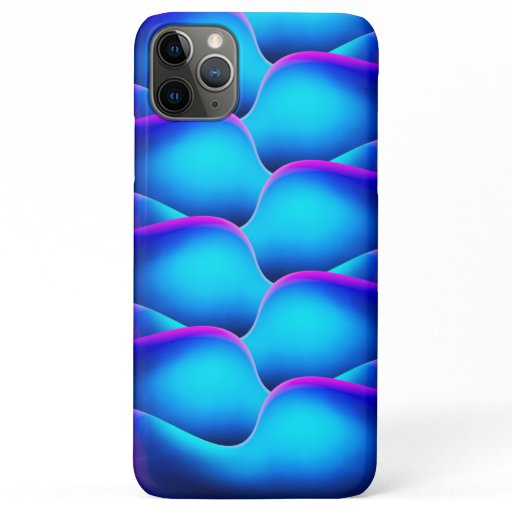 Girly Blue & Pink Mermaid Scales iPhone 11 Pro Max Case