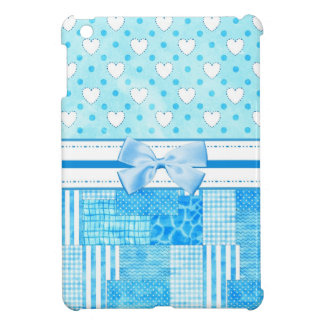 Girly Blue Scrapbook Style Case For The iPad Mini