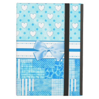 Girly Blue Scrapbook Style iPad Air Cover