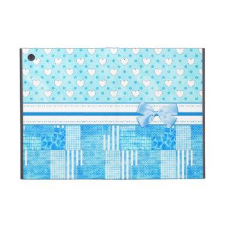 Girly Blue Scrapbook Style iPad Mini Cover