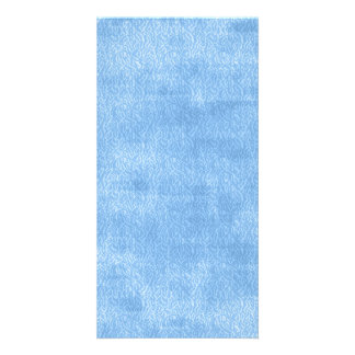 Girly Blue Watercolor Abstract Pattern Photo Cards