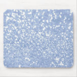 Girly Blue White Abstract Glitter Photo Print Mouse Pads