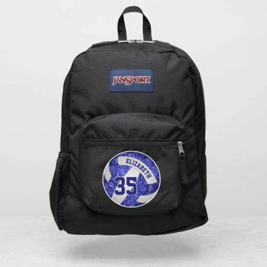 girly blue white sporty volleyball JanSport backpack