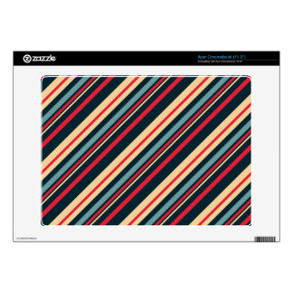 girly boho striped pattern acer chromebook decals