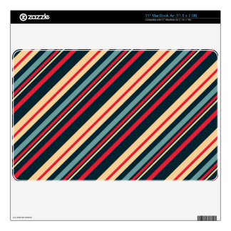 """girly boho striped pattern skins for 11"""" MacBook air"""