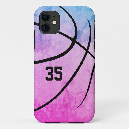 girly bold minimal basketball  Case-Mate iPhone case