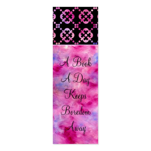 Girly Bookmark Business Card : Zazzle