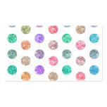 Girly Bright Mod Glitter Polka Dots Chic Pattern Business Card Template