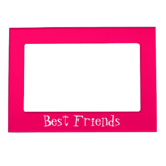Girly Bright Pink Best Friends Magnetic Frame