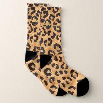 Girly brown beige watercolor leopard pattern socks