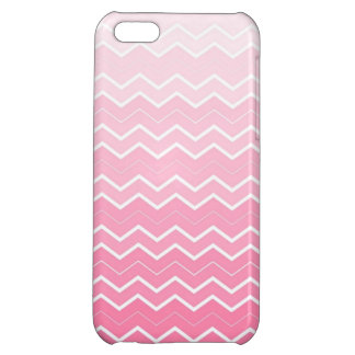 Girly Bubble gum Pink Ombre Chevron Print iPhone 5C Covers