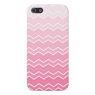Girly Bubble gum Pink Ombre Chevron Print iPhone SE/5/5s Case